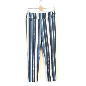 LISETTE MONTREAL Blue Striped Pants size large